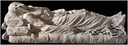 Statua del Cristo coperto da velo all'interno della Cappella Sansevero