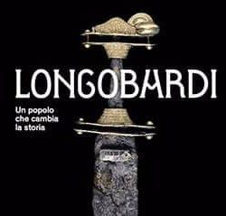 Locandina con le informazioni relative alla mostra sui Longobardi