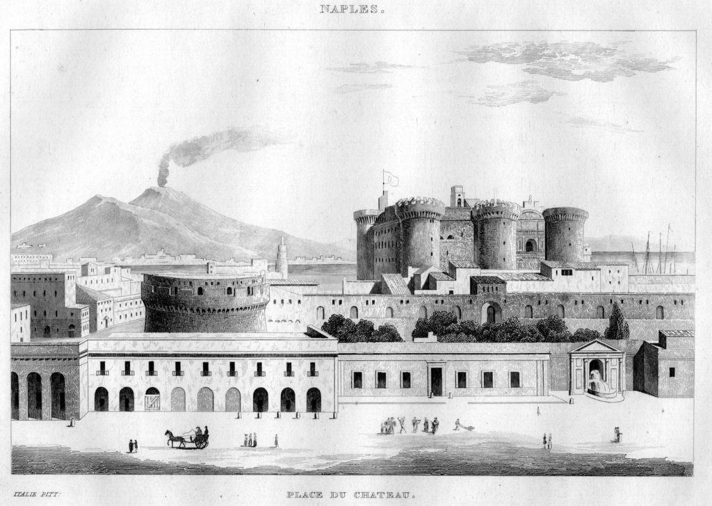 Vista di Napoli con Maschio Angioino e Vesuvio