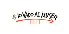 logo dell'iniziativa ministeriale con l'hashtag e la scritta Io vado al Museo